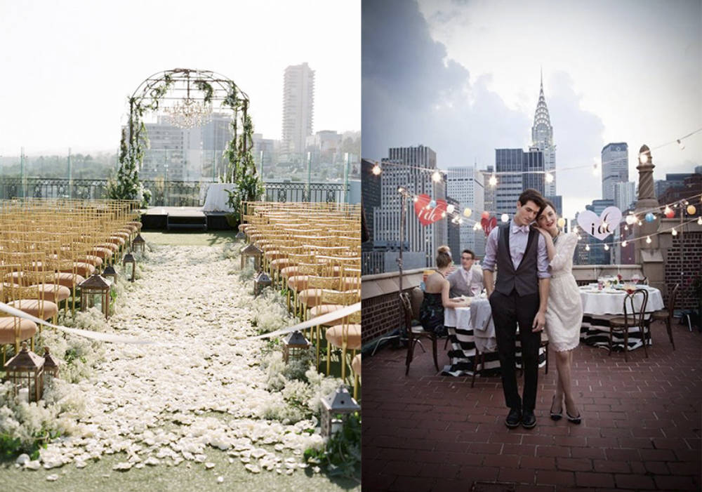 Esküvő a háztetőn - a rooftop lagzi előnyei